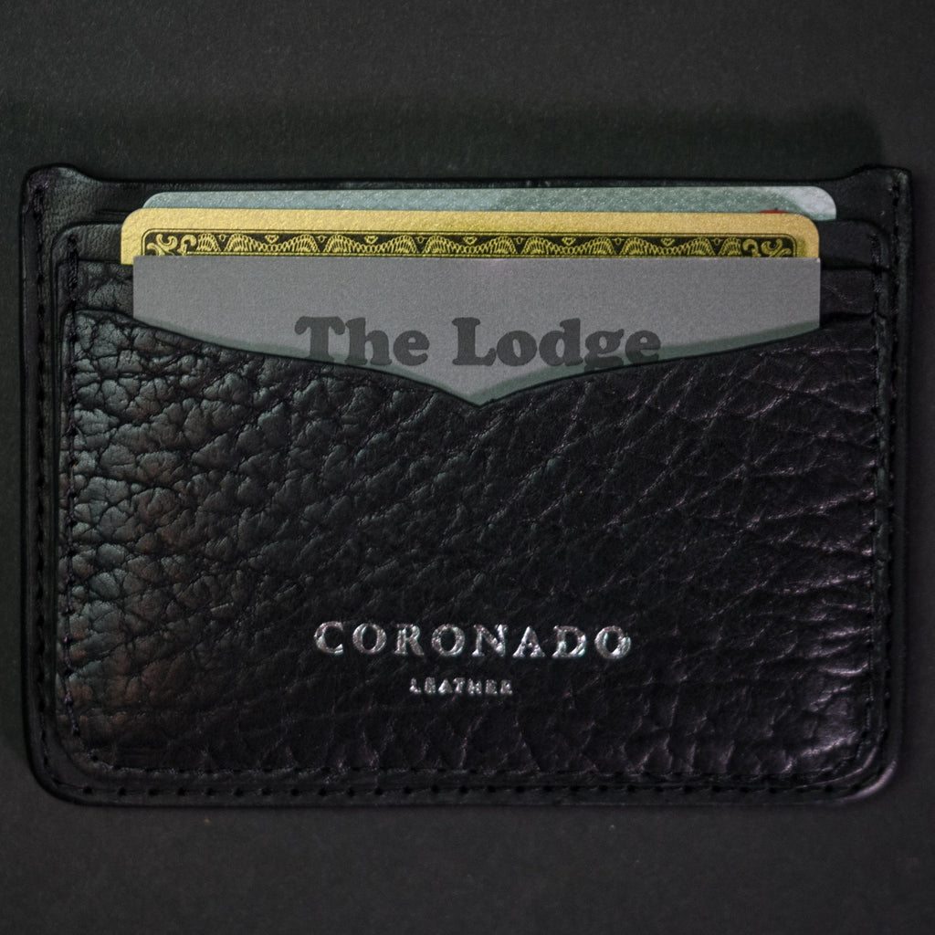 BLACK BISON LEATHER CARD WALLET
