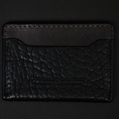 BISON SLIM CARD WALLET BLACK - THE LODGE  - 1
