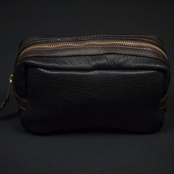 CORONADO BISON LEATHER DOPP KIT BLACK - THE LODGE  - 1