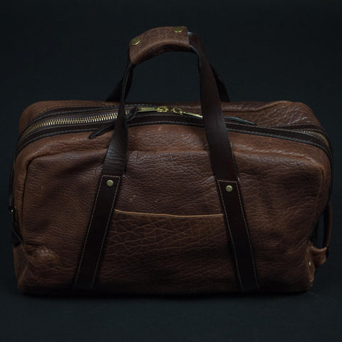 CORONADO BISON LEATHER WEEKEND DUFFLE SADDLE - THE LODGE  - 1