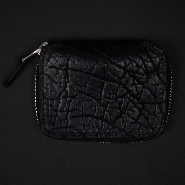 Coronado Bison Leather Zip Wallet Black at The Lodge