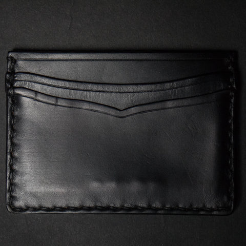 BLACK CORONADO CARD CASE WALLET HORWEEN LEATHER - THE LODGE  - 1