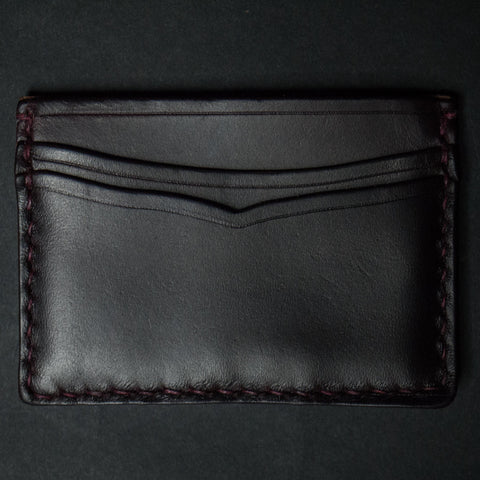 CORONADO CARD CASE WALLET BURGANDY HORWEEN - THE LODGE  - 1