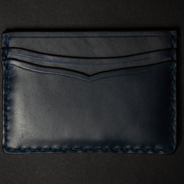 NAVY CORONADO CARD CASE WALLET HORWEEN LEATHER - THE LODGE  - 1
