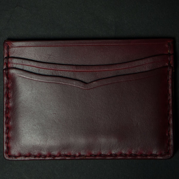 RED CORONADO CARD CASE WALLET HORWEEN LEATHER - THE LODGE  - 1