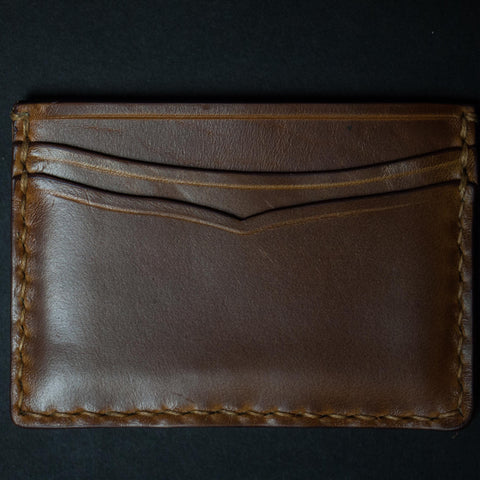 TAN CORONADO CARD CASE WALLET HORWEEN LEATHER - THE LODGE  - 1