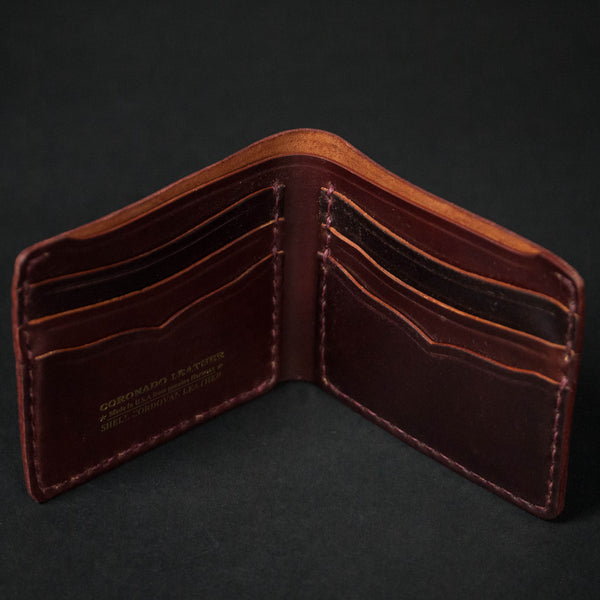CORONADO SHELL CORDOVAN CARD BILLFOLD #8 - THE LODGE  - 1