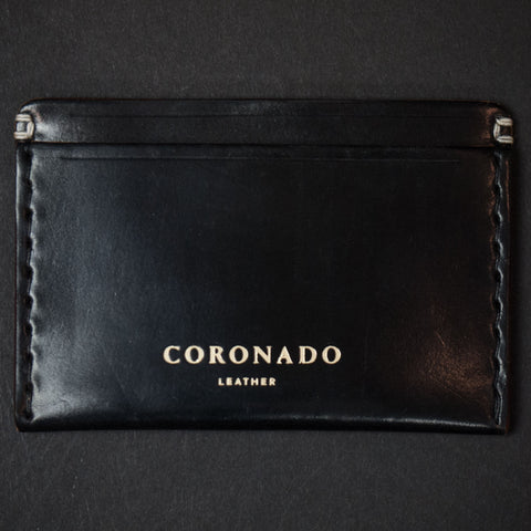 Coronado Black Cordovan Card Wallet at The Lodge