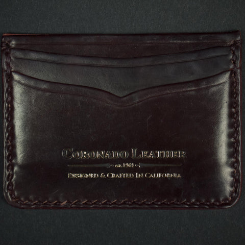 SHELL #8 CORDOVAN CARD CASE ID WALLET - THE LODGE  - 1