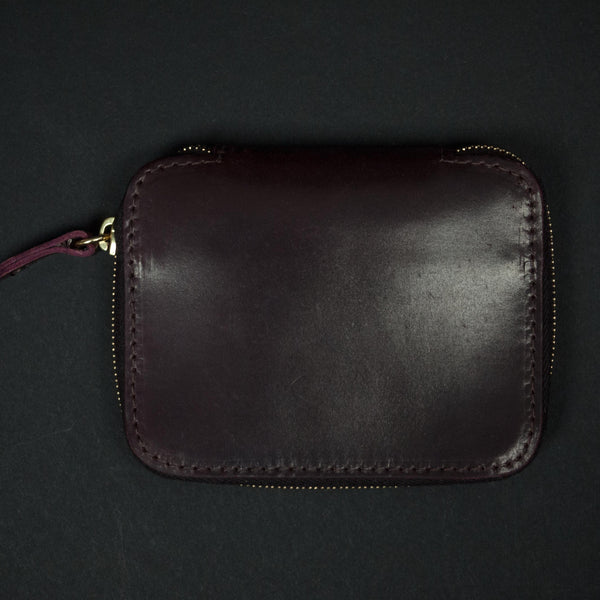 CORONADO SHELL CORDOVAN FULL ZIP WALLET #8 CORDOVAN - THE LODGE  - 1