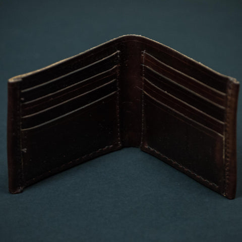 BROWN CORONADO BILLFOLD CARD WALLET HORWEEN LEATHER - THE LODGE  - 6