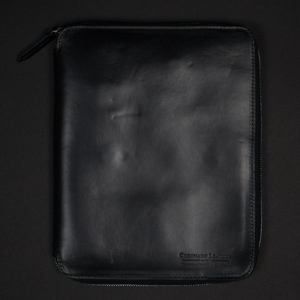 CORONADO METROPOLITAN HORWEEN LEATHER ZIP FOLIO BLACK IPAD - THE LODGE  - 1