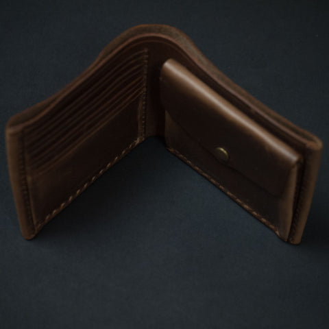 Natural Horween Coronado Leather Billfold Wallet at The Lodge