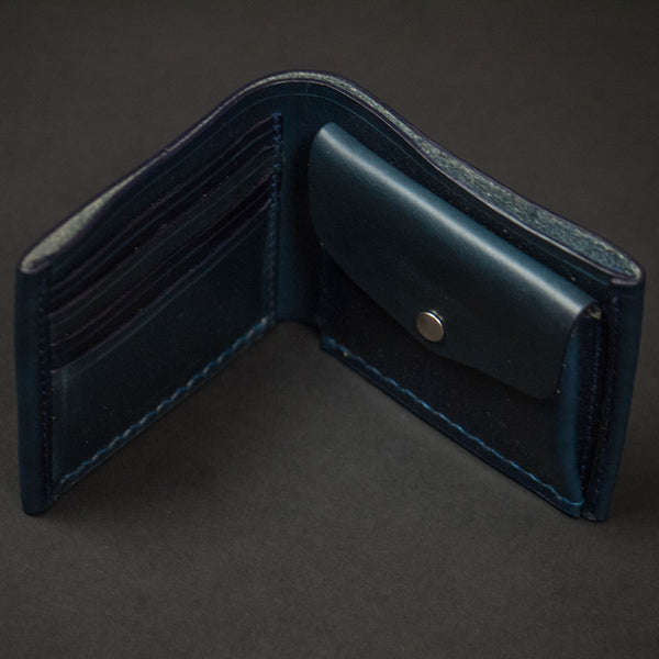 Coronado Leather Navy Horween Coin Billfold Wallet at The Lodge