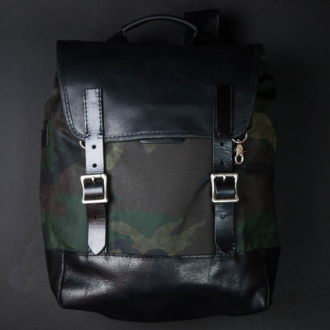 Coronado Leather Redwood Bison Backpack Camouflage at The Lodge