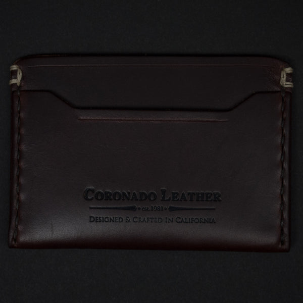 CORONADO SLIM CARD WALLET #10 BROWN HORWEEN - THE LODGE  - 1