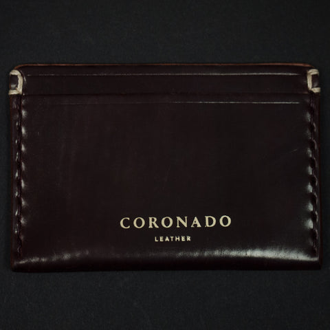 Coronado Leather Shell Cordovan Slim Card Wallet at The Lodge