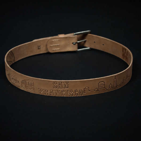 CORONADO TOOLED SAN FRANCISCO BELT NATURAL - THE LODGE  - 1