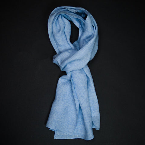 Corridor Light Blue Linen Scarf at The Lodge