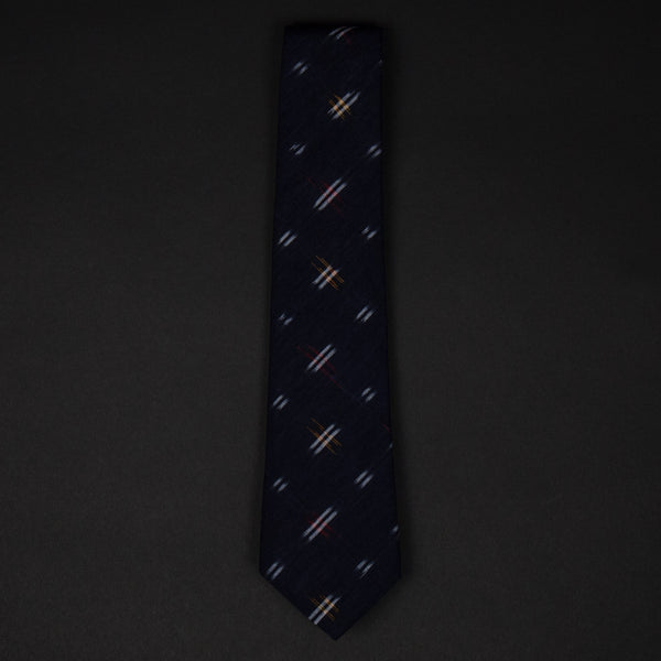 Corridor Navy Cross Check Ikat Men's Tie at The Lodge