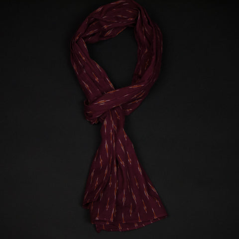 Corridor Maroon Striped Scarf at The Lodge
