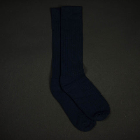 COTTON RIB SOCKS NAVY - THE LODGE  - 1