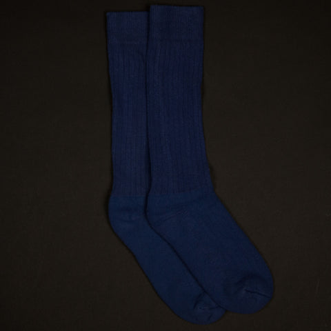 COTTON RIB SOCKS TRUE BLUE - THE LODGE  - 1