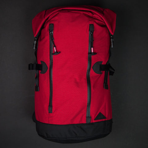 DATUM Red Rolltop Pack at The Lodge