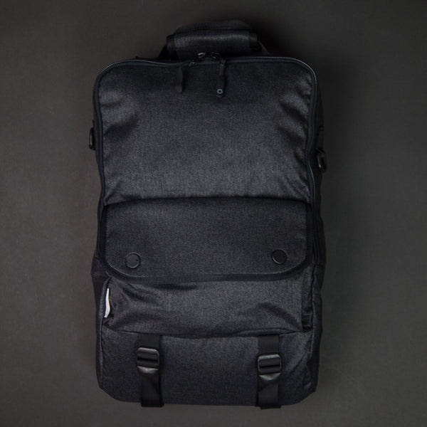 DSPTCH Bookpack Charcoal Speckeld Twill at The Lodge