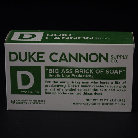 DUKE CANNON BIG ASS BRICK OF SOAP- PRODUCTIVITY - THE LODGE  - 1