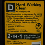 DUKE CANNON 2-IN-1 HARD WORKING CLEAN HAIRWASH - THE LODGE  - 3