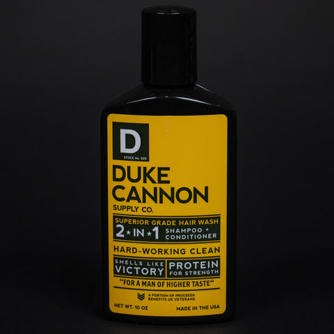 DUKE CANNON 2-IN-1 HARD WORKING CLEAN HAIRWASH - THE LODGE  - 1