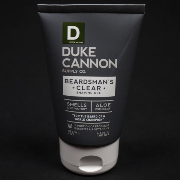 DUKE CANNON BEARDMAN'S CLEAR SHAVE GEL - THE LODGE  - 1