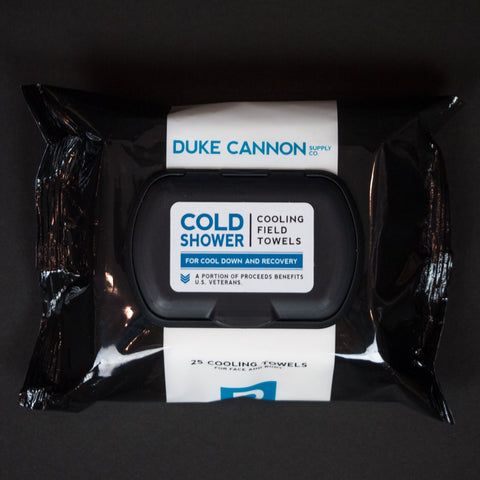 Duke Cannon Cold Shower Field Towels at The Lodge