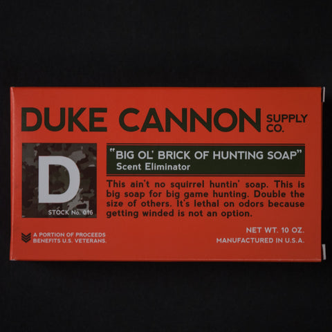 Duke Cannon Scent Eliminator Hunting Soap at The Lodge
