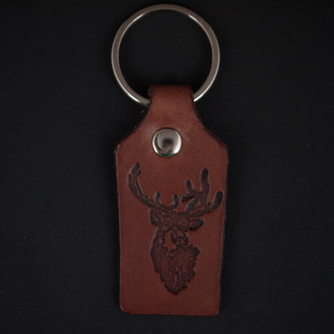 ELK LEATHER HANDMADE KEY FOB - THE LODGE  - 1