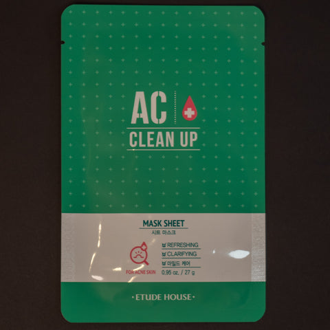 Etude House AC Clean Up Sheet Mask at The Lodge