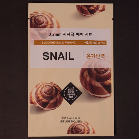 Etude House Snail Sheet Mask at The Lodge