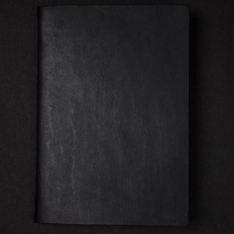 Jet Black Leather Pocket Journal at The Lodge