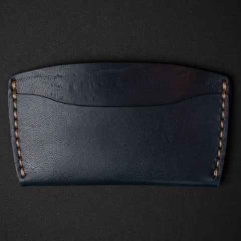 Ezra Arthur Navy Leather Slim Card Wallet at The Lodge