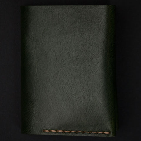 Ezra Arthur Green Leather #4 Bi-Fold Card Wallet at The Lodge