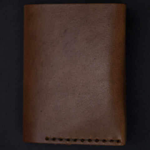 Ezra Arthur Whiskey Leather #4 Bi-Fold Card Wallet at The Lodge