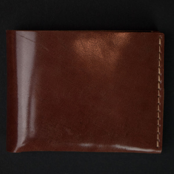 Ezra Arthur Cognac Cordovan Leather Wallet at The Lodge