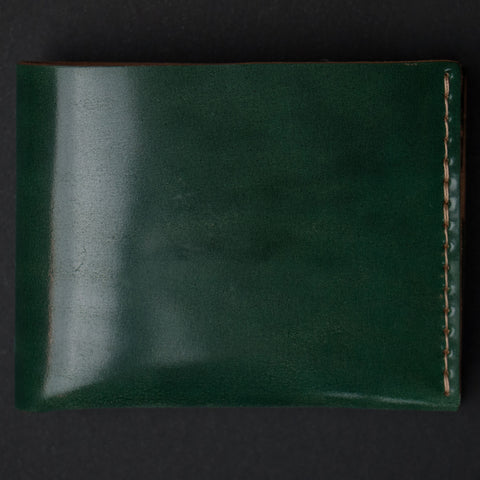 Ezra Arthur Green Shell Cordovan Leather Wallet at The Lodge