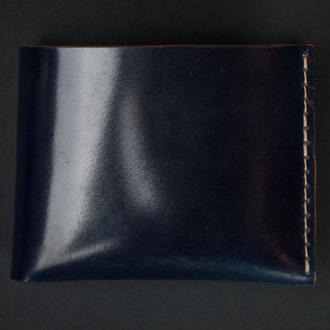 Ezra Arthur Navy Shell Cordovan Billfold Wallet at The Lodge