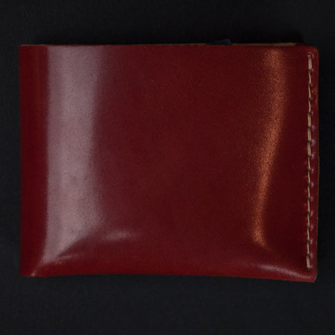 Ezra Arthur Red Shell Cordovan Billfold Wallet at The Lodge