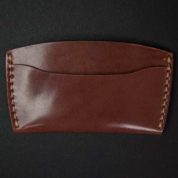Ezra Arthur Cognac Shell Cordovan Card Wallet at The Lodge
