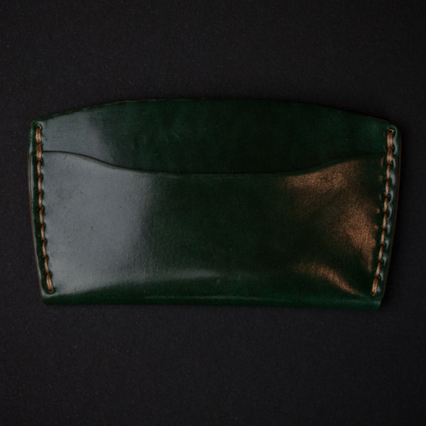 Ezra Arthur Green Shell Cordovan Card Wallet at The Lodge