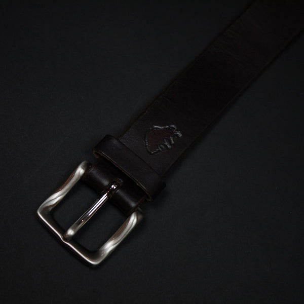 Chocolate Leather Ezra Arthur Belt at The Lodge