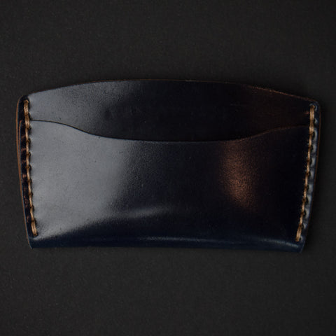 Ezra Arthur Navy Cordovan Leather Slim Wallet at The Lodge